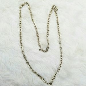 J. Crew light gold and white enamel long necklace